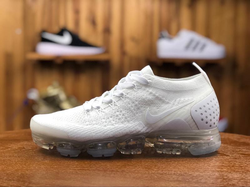 723e46181f27 Nike Air Vapormax Flyknit 2. 0 Triple White 942842 100 Women s Men s  Running Shoes