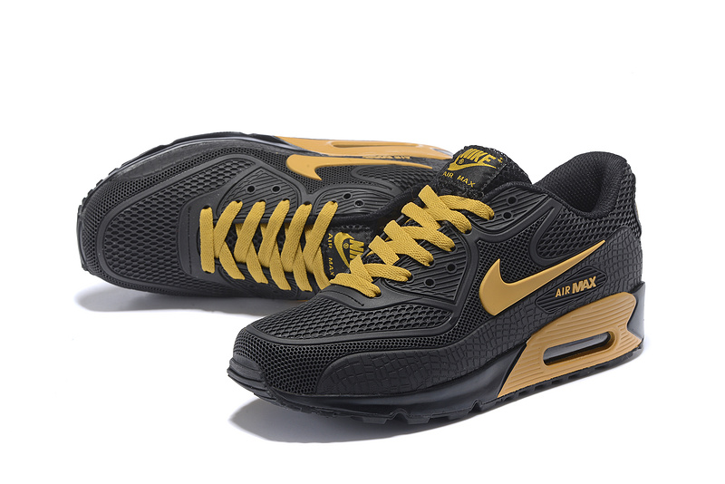 Kpu 90 Sneakers Black St002474 Running Nike Air Max Men's Gold Shoes JlF1Kc