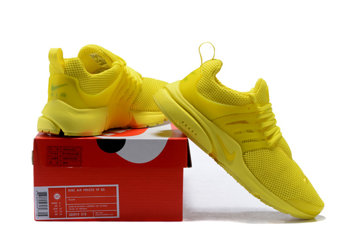 af548fe7045dc Nike Air Presto TP QS Triple Yellow Men s Women s Running Shoes ...