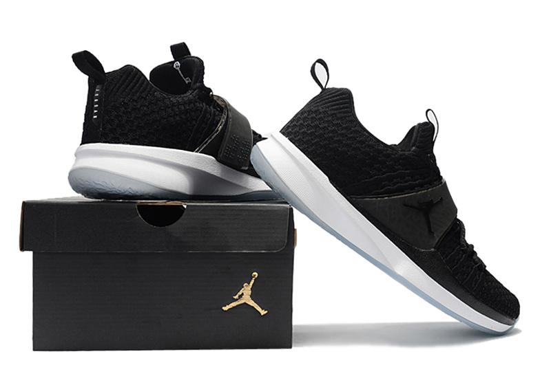 5e0a259eedfb15 Air Jordan Trainer 2 Flyknit Black Ice 921210 010 Men s Basketball Shoes