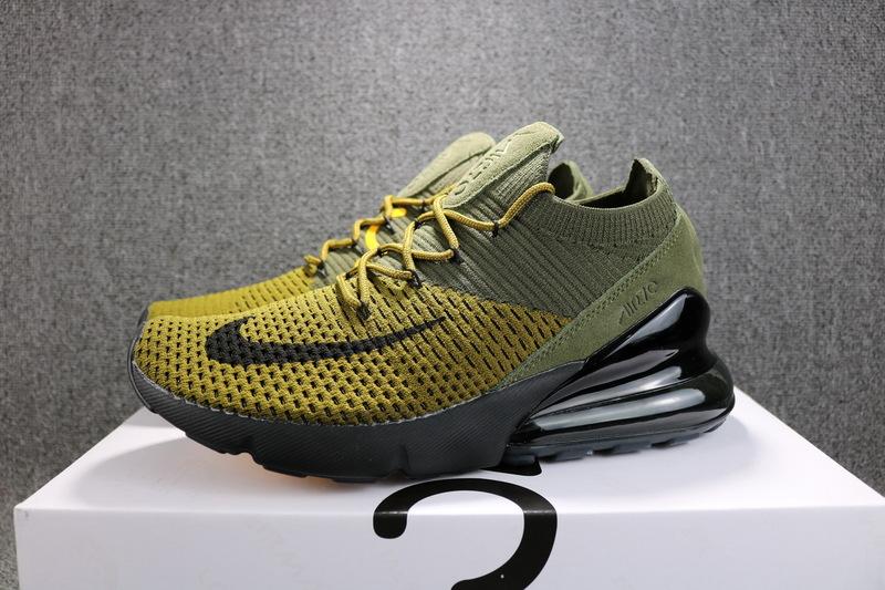 eddf4f5308 Nike Air Max 270 Flyknit Army Geen Black AO1023 003 Women's Men's ...