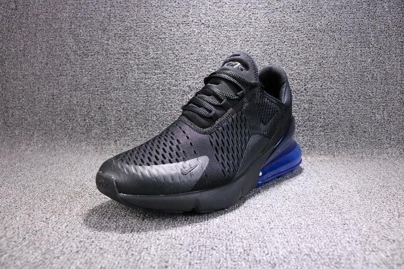hot sales 15d1f 46ad8 Nike Air Max 270 Flyknit Black Photo Blue AH8050 009 Womens Mens Running  Shoes
