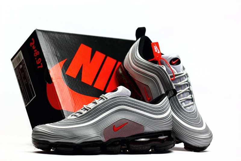 finest selection 0d97a e79aa Nike Air Max 97 2018 KPU Cool Grey Red White Men's Running Shoes  NIKE-ST002296