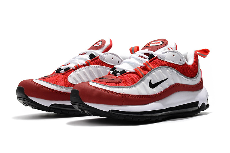 best authentic 2db24 b5720 Nike Air Max 98 Red White Black Men's Running Shoes NIKE-ST002303