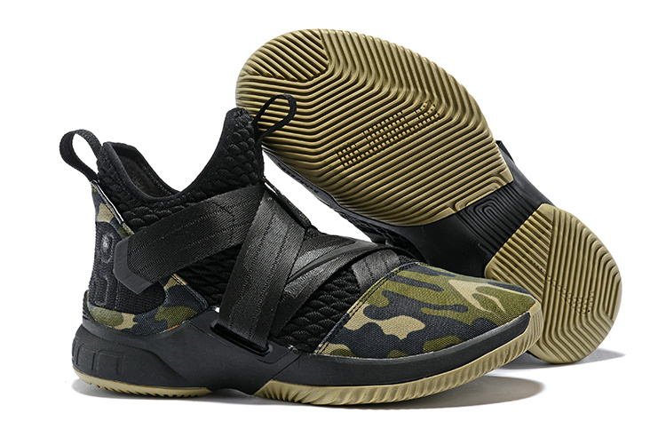 wholesale dealer 070d6 96a58 Nike LeBron Soldier XII 12 SFG Camo Black Hazel Rush Black AO4054 001 Men s  Basketball Shoes