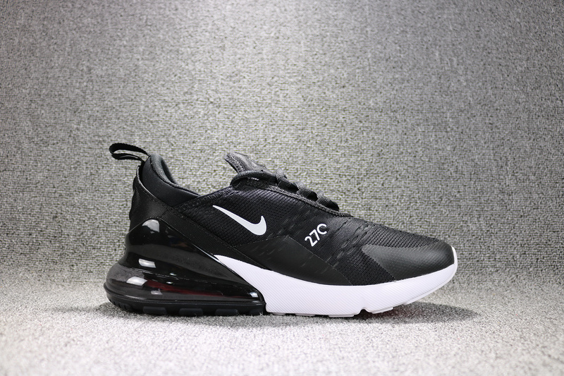 d4fdecf1772 Nike Air Max 270 Flyknit Black White Solar Red Anthracite AH8050 002 Men s  Running Shoes