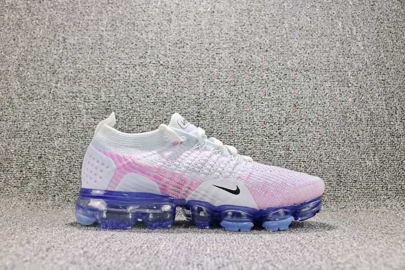7185289be0ee Nike Air VaporMax Flyknit 2 White Hydrogen Blue Pink Beam Black 942843 102 Women s  Running Shoes