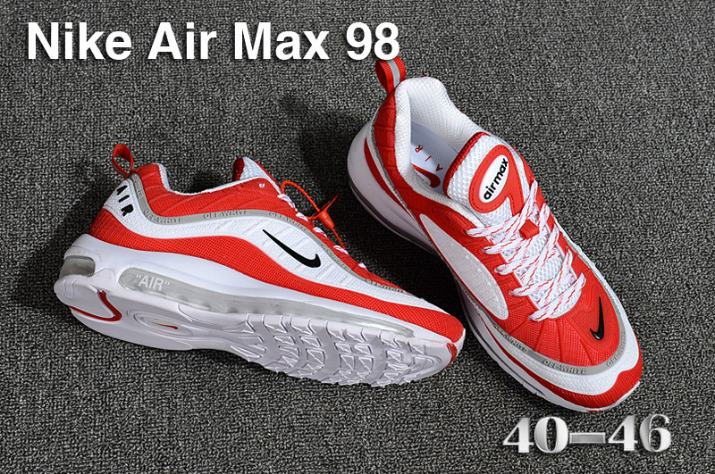 separation shoes fdc64 1c87e Nike Air Max 98 QS KPU White Red Black Grey 640744 069 Men's Running Shoes  640744-069