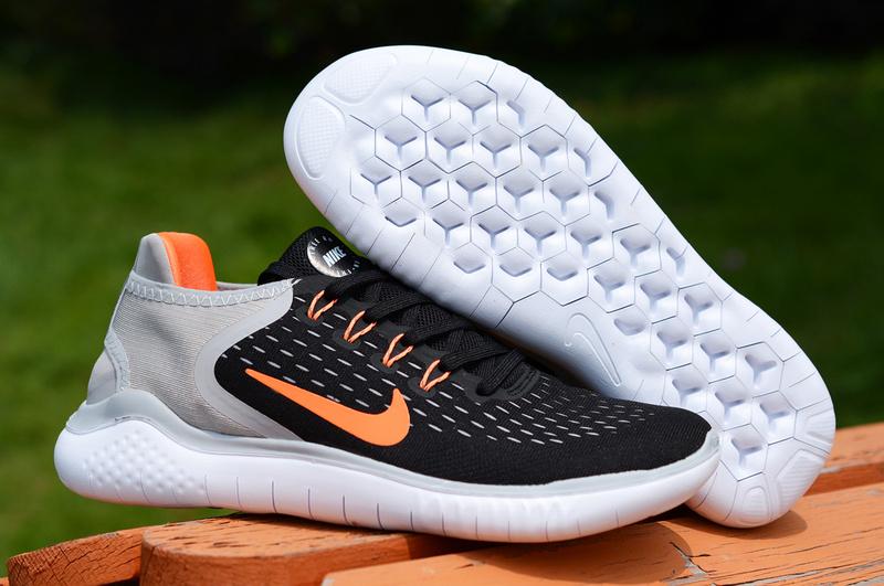 best authentic 73a4c cc372 Nike Free RN 2018 5. 0 Black White Orange Men's Running Shoes NIKE-ST002175