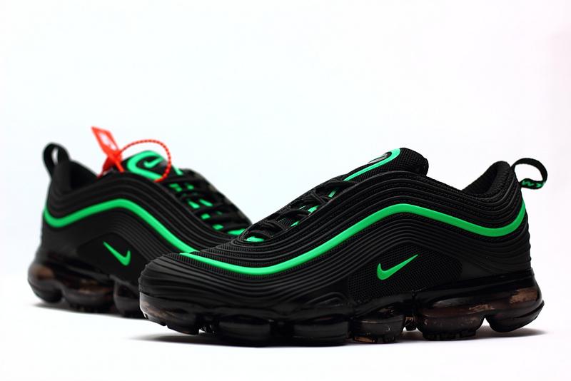los angeles b0dae ad36a Nike Air Max 97 2018 KPU Black Green Men's Running Shoes NIKE-ST002293
