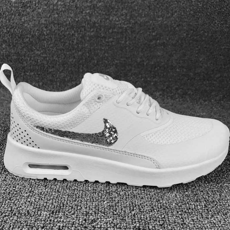 de86742cedcc Nike Air Max Thea SE White Silver Women s Men s Running Shoes ...