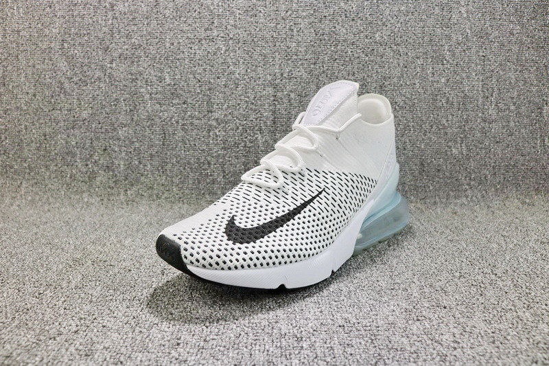 53495fb074f67 Nike Air Max 270 Flyknit White Black AO1023 100 Women s Men s Running Shoes