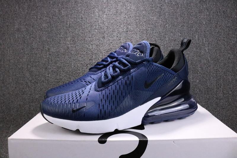 sneakers for cheap bf227 64a65 Nike Air Max 270 Flyknit Midnight Navy Black AH8050 400 Men's Running Shoes  AH8050--400