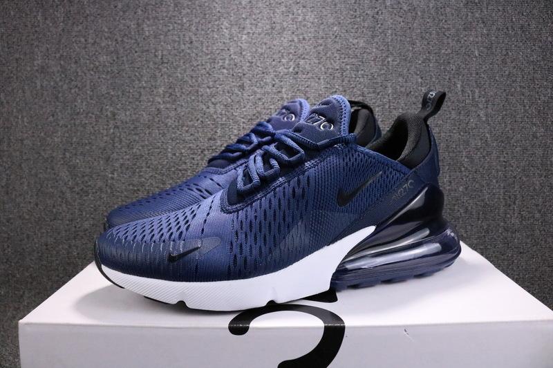 Nike Air Max 270 Flyknit Midnight Navy Black AH8050 400 Men s ... 6e825b279