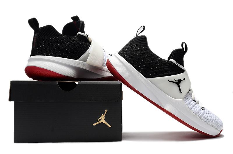 53d71f39b27 Air Jordan Trainer 2 Flyknit White Black Gym Red 921210 101 Men's ...