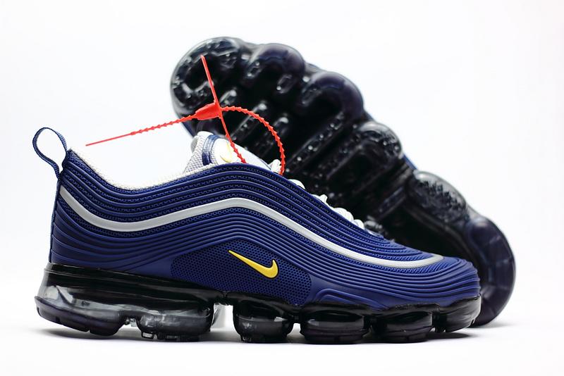 sports shoes 822ea 06b39 Nike Air Max 97 2018 KPU Navy Blue Yellow White Men s Running Shoes