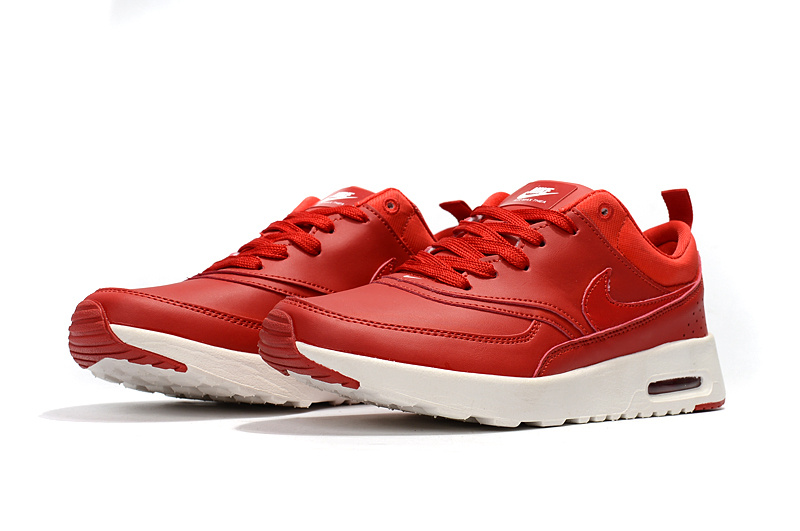 Nike Air Max Thea Premium Shoes Womens in University Red