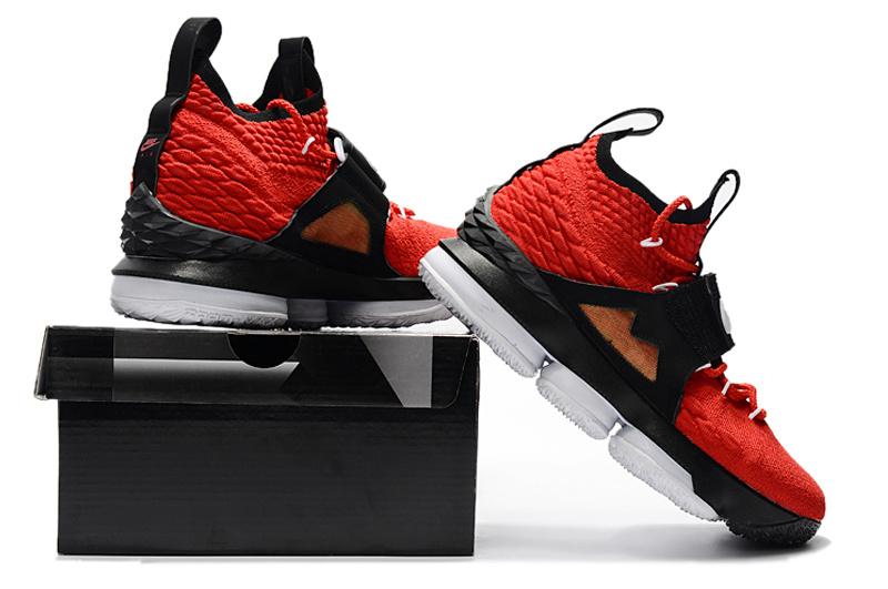 43d20f06c307 Nike Lebron 15 XV Red Black Gold Men s Basketball Shoes NIKE ...