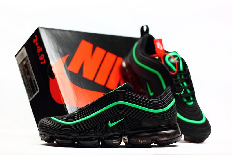 los angeles 07ab8 21f08 Nike Air Max 97 2018 KPU Black Green Men's Running Shoes NIKE-ST002293