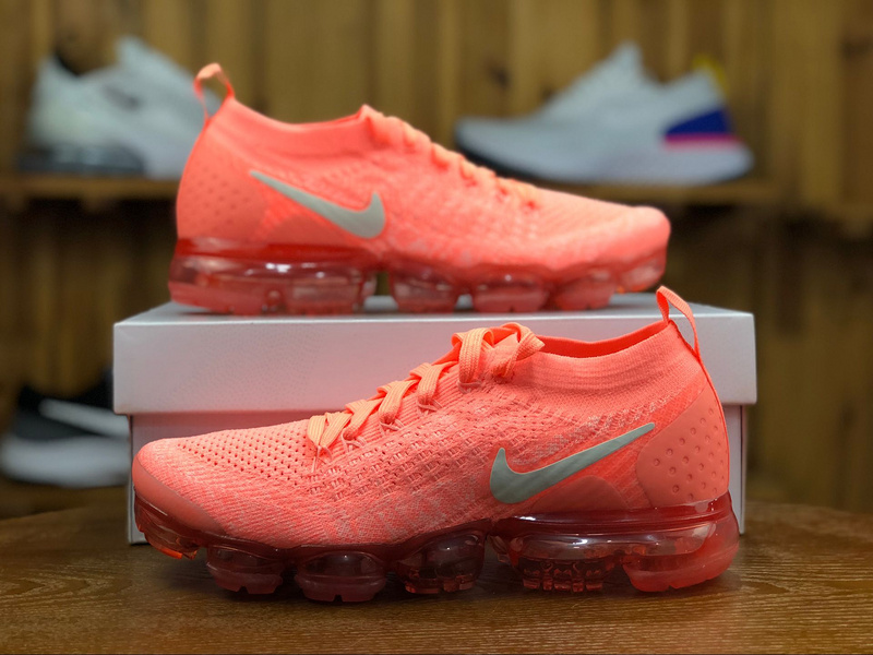 the latest c729e 82aae Nike Air VaporMax Flyknit 2. 0 Crimson Pulse Sail Coral Stardust 942843 800  Women's Running Shoes 942843-800A