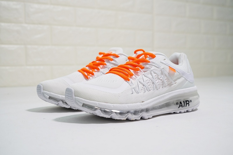 san francisco 6a7a0 ceb7c Nike Air Max 2015 white orange 698902-100 Mens Women s Running Shoes