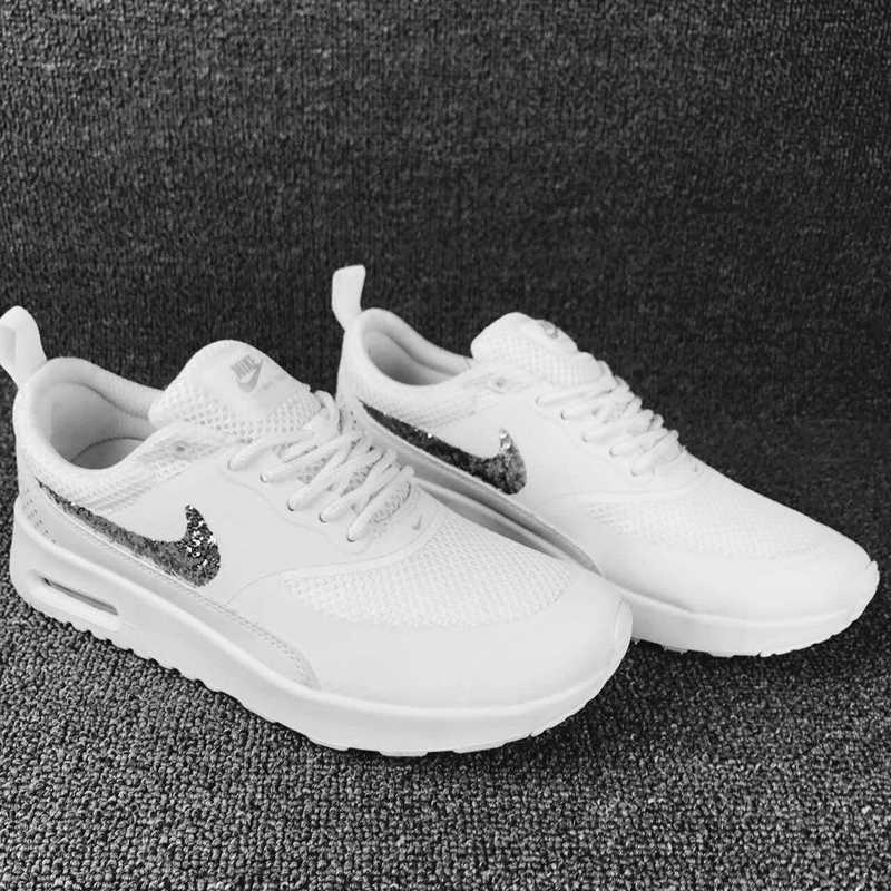 Nike Air Max Thea SE White Silver Women's Men's Running Shoes Sneakers NIKE ST002233
