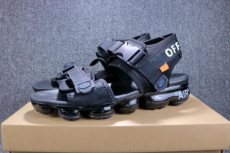 b53b21a587c Off white x Nike Air VaporMax Triple Black 850588 001 Boys Men s ...