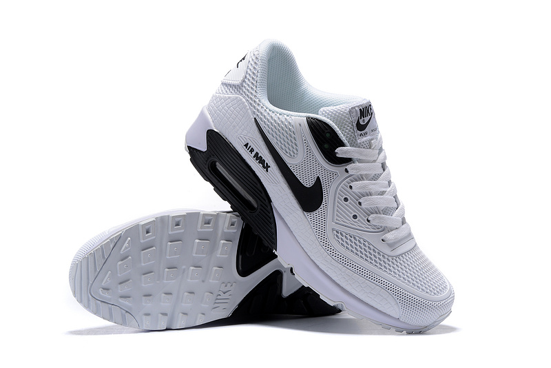 wholesale dealer ded82 8ae11 Nike Air Max 90 Kpu White Black Men s Women s Running Shoes Sneakers