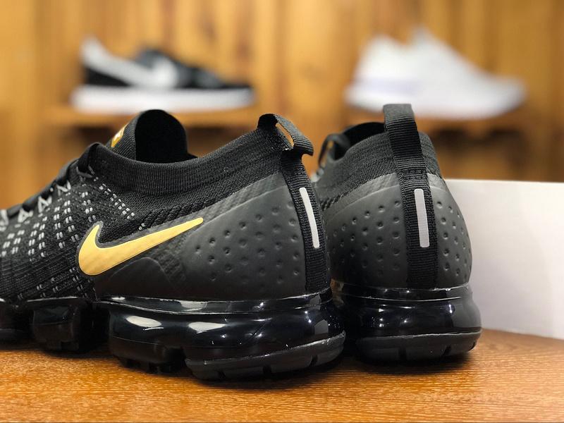 new style db9c3 d2f69 Nike Air VaporMax Flyknit 2. 0 Black Gold 942842 009 Men's Running Shoes  942842--009