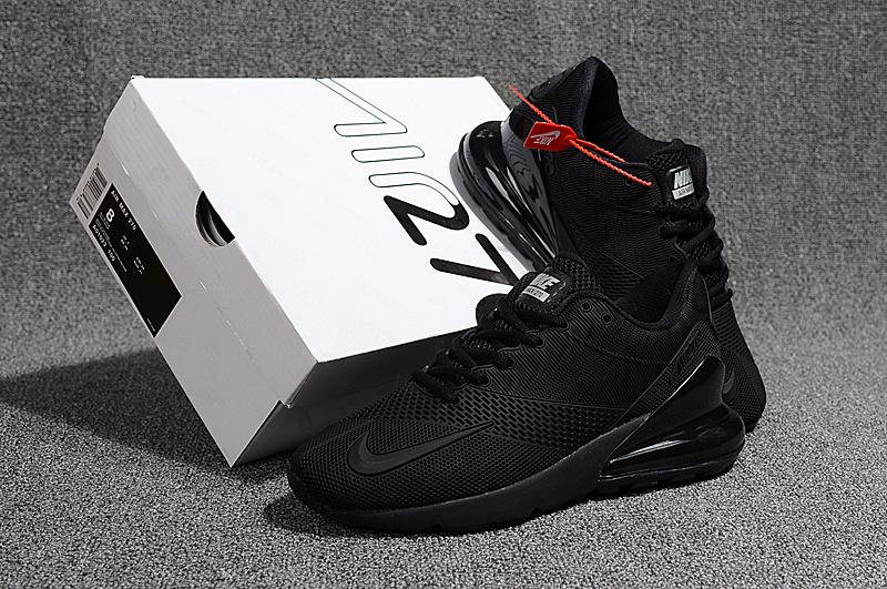 sports shoes 4bffc bc927 Nike Air Max 270 Kpu Triple Black Men's Running Shoes NIKE-ST002315