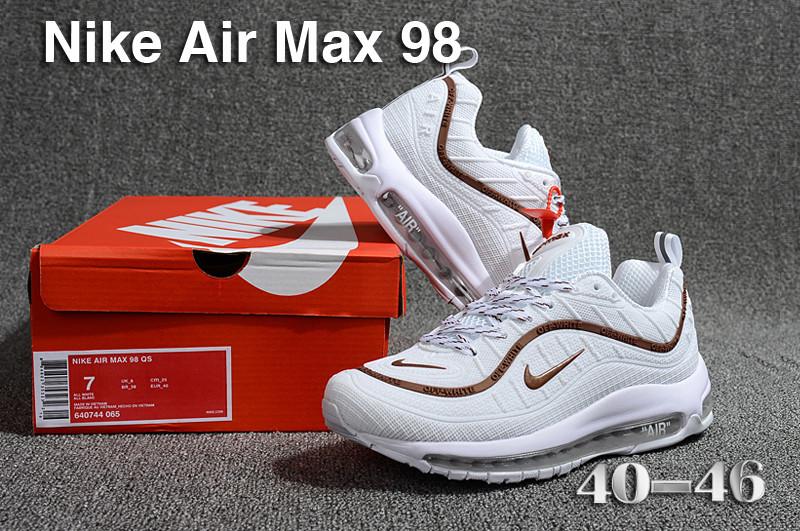 Nike Air Max 98 QS KPU Brown White 640744 065 Men s Running Shoes ... 96b50d4bc