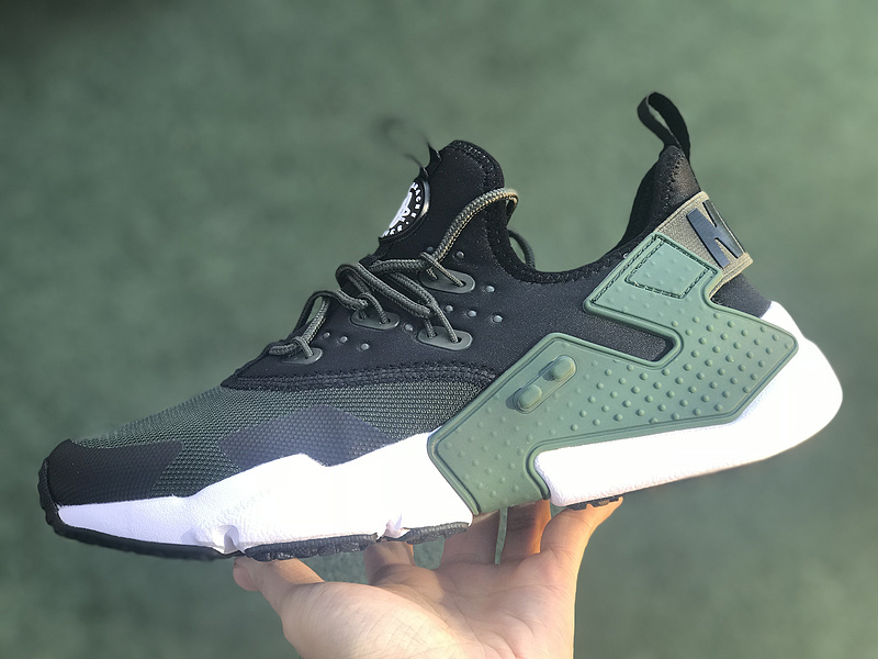 buy popular 355fc 85e35 Nike Air Huarache Drift Olive Green White Women s Men s Running Shoes