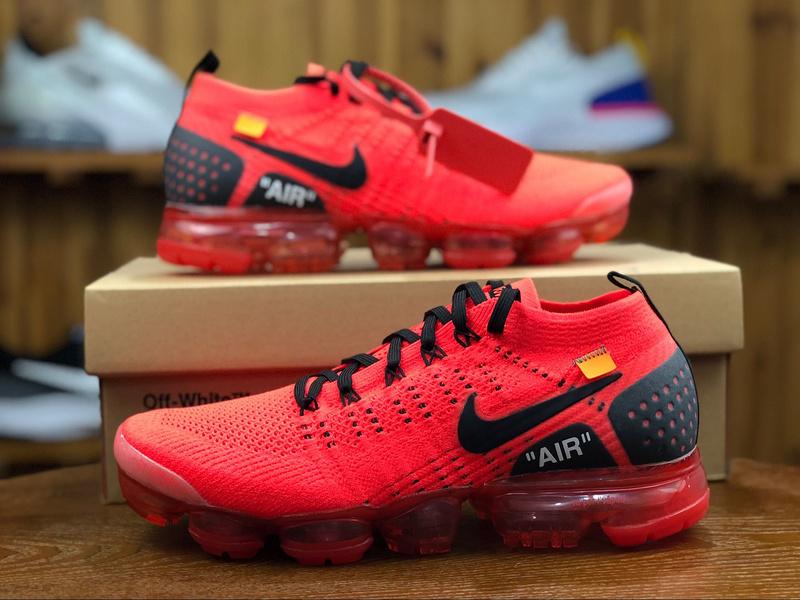 best website 5f670 f8b58 Nike Air VaporMax Flyknit 2. 0 Black Orange 942842 006 Men's Running Shoes  942842-006A
