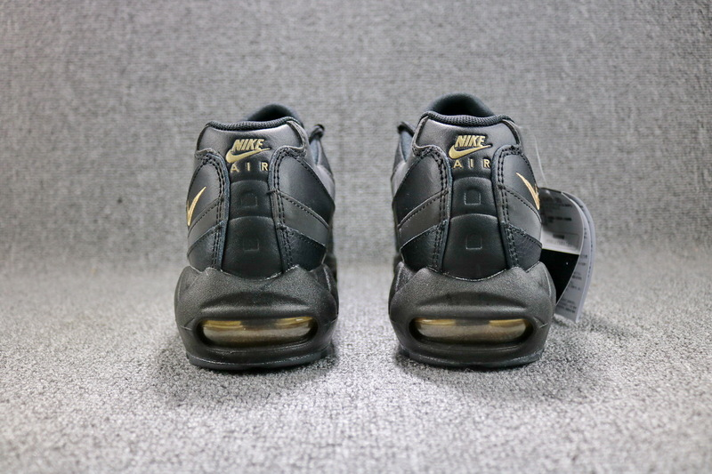 5f0db9b624 Nike Air Max 95 Premium SE Black Gold 924478 003 Men's Running Shoes ...
