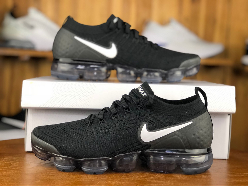 buy online dd864 1eb25 Nike Vapormax Flyknit 2. 0 Black White 942842 001 Men's Running Shoes  942842-001A