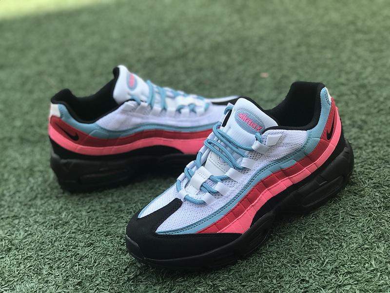 Romantic Nike Air Max 95 OG QS Red Blue Whtie Black 918359 008 Women's Men's Running Shoes 918359 008