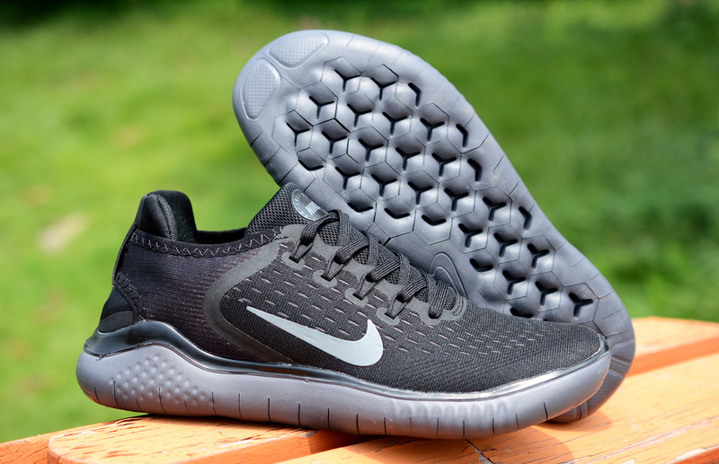 be4c4c77417f Nike Free RN 2018 5. 0 Triple Black Silver Men s Women s Running ...