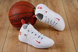 premium selection 57a9c 4bafa Nike Zoom KD 11 EP White Red Men s Basketball Shoes