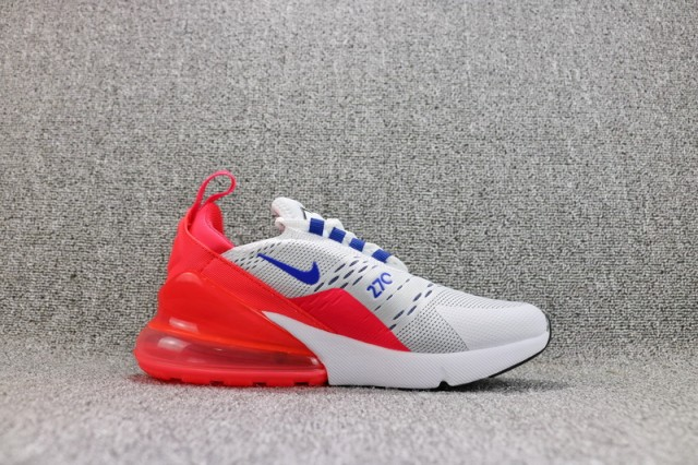 new concept 2e362 484fc Nike Air Max 270 Flyknit White Ultramarine Solar Red AH6789 101 Women s  Casual Shoes