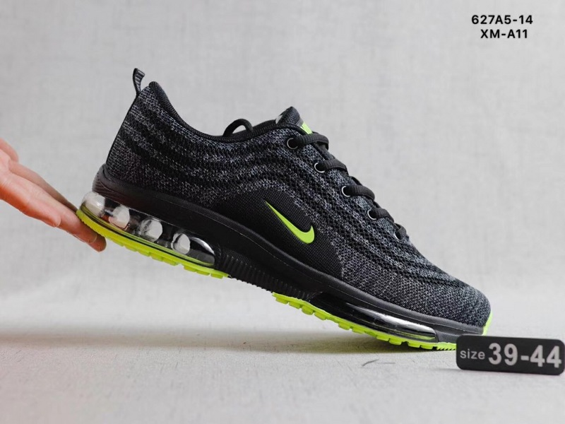 on sale 37764 be3aa Nike Air Max Vapormax Flyknit Black Green Men s Running Shoes