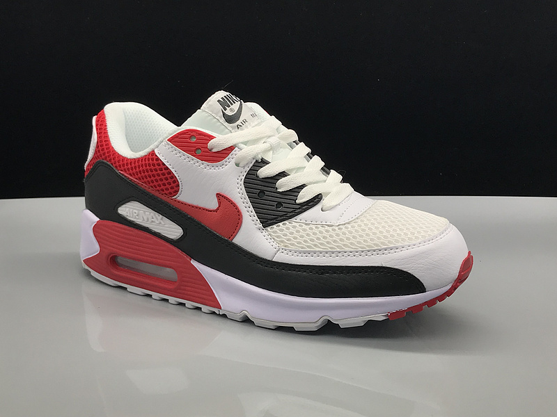 Nike Air Max 90 White Red Black Women's Men's Casual Shoes Sneakers NIKE ST002743