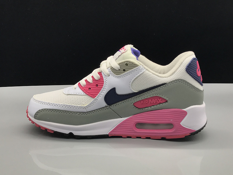 big sale 7558b c20e8 Nike Air Max 90 White Blue Pink Grey Women's Casual Shoes Sneakers  NIKE-ST002767