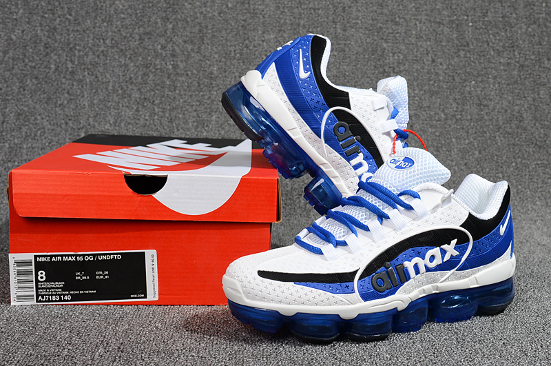 3ae4ed9e69f Nike Air VaporMax 95 OG Undftd Kpu BIG LOGO Royal Blue White Black AJ7183  140 Men s