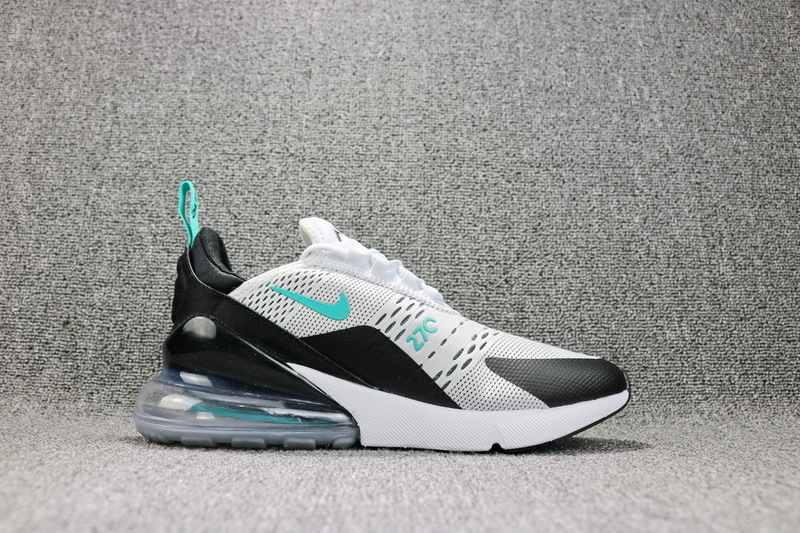 hot sale online dea1b 3b194 Nike Air Max 270 Flyknit White Black Dusty Cactus AH8050 001 Men's Running  Shoes NIKE-ST002530