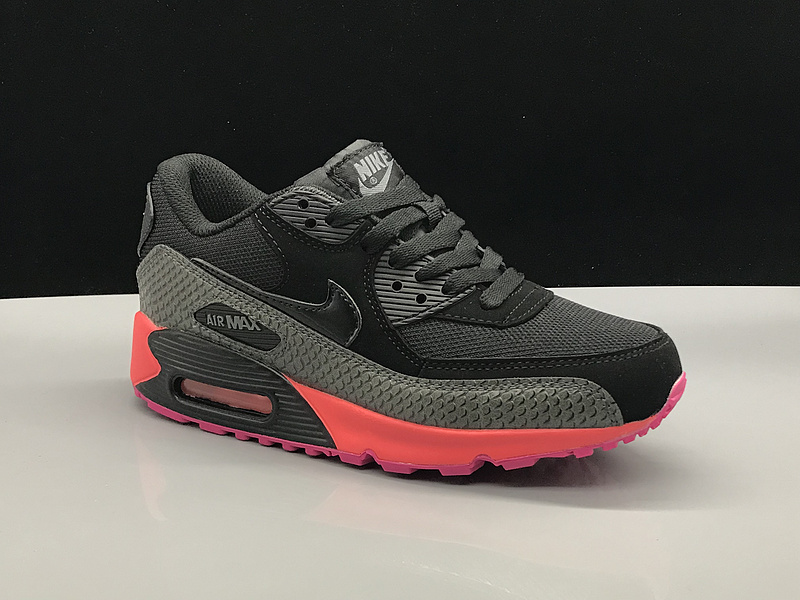 pretty nice 0e023 71849 Nike Air Max 90 Black Grey Pink Women's Casual Shoes Sneakers NIKE-ST002765