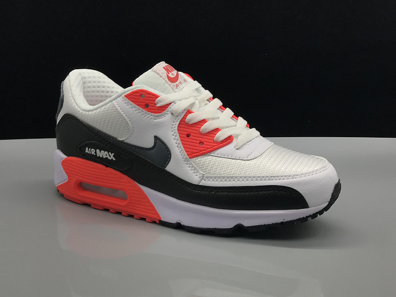 best service ef9d0 0b4b6 Nike Air Max 90 White Red Black Women's Men's Casual Shoes Sneakers  NIKE-ST002736