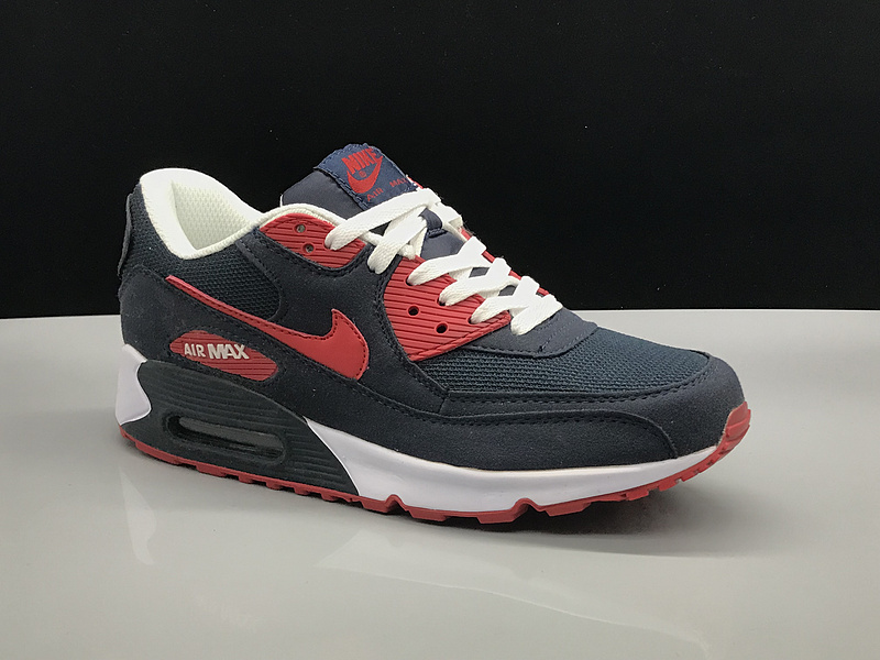 the latest 98fa9 47046 Nike Air Max 90 Navy Blue Red White Women's Men's Casual Shoes Sneakers  NIKE-ST002748