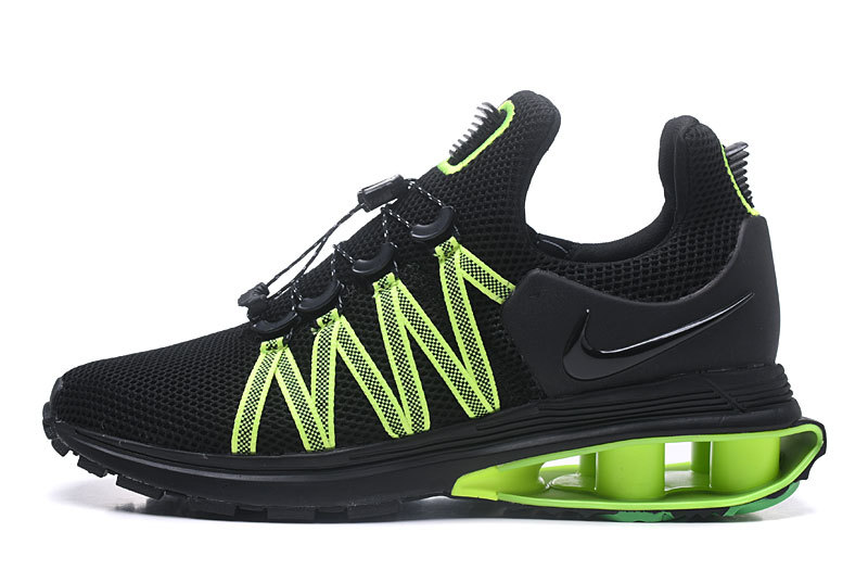 new product ac8e1 417be Nike Shox Gravity Black Gorge Green Hot Lime AR1999 003 Men s Running Shoes