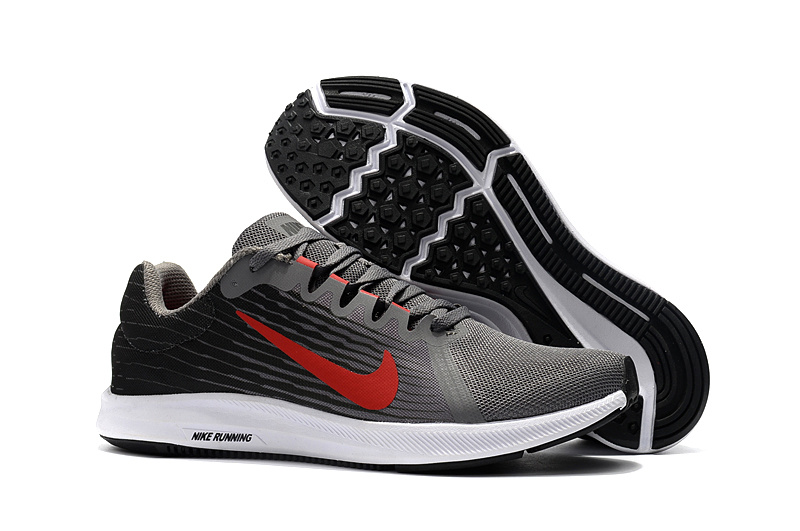1461f4d0d80 Nike Downshifter 8 Grey Red White Men s Casual Shoes NIKE-ST002710 ...