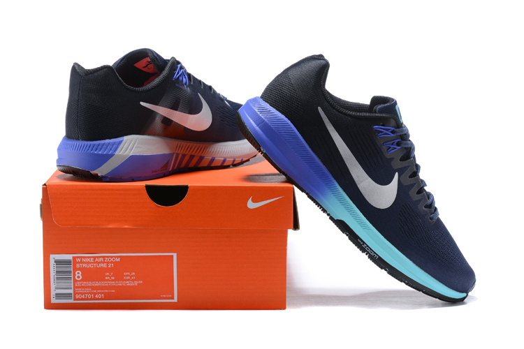 29fa95f0d33 Nike Air Zoom Structure 21 Thunder Blue Metallic Silver 904701 401 ...